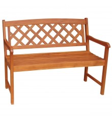 [2 Seater] Lattice Back Bench