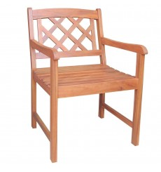 C-53917 Lattice Back Arm Chair | Oil Dipped