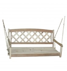 [46 Inch] Lattice Back Porch Swing