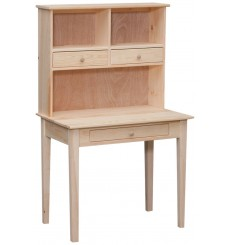 [35 Inch] Writing Desk and Hutch