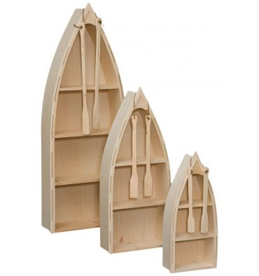 [25 Inch] Boat Bookshelves - 72H