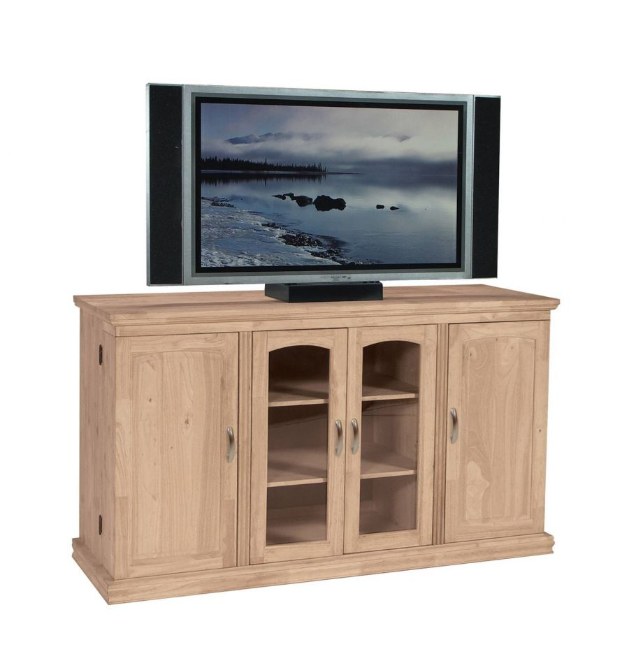 62 Inch Tv Console With Swing Out Doors Burr S
