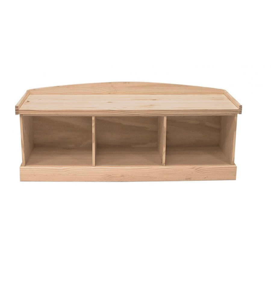 Unfinished Wood Corner Bench Benches