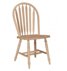 Arrowback Windsor Side Chair with Turned Leg