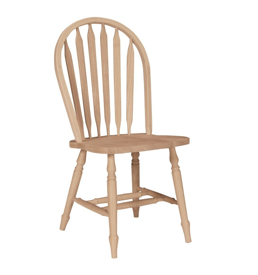 Windsor Kitchen Chairs: Arrowback Windsor Side Chair With Turned Leg