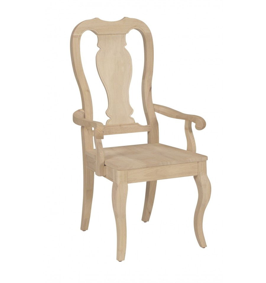 Queen Anne Chairs - Burr's Unfinished Furniture | Bryan, TX