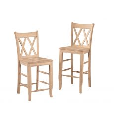 Double XX-Back Stools