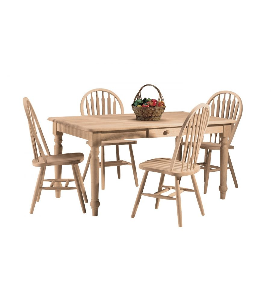[60 Inch] Farmhouse Dining Table With Drawer