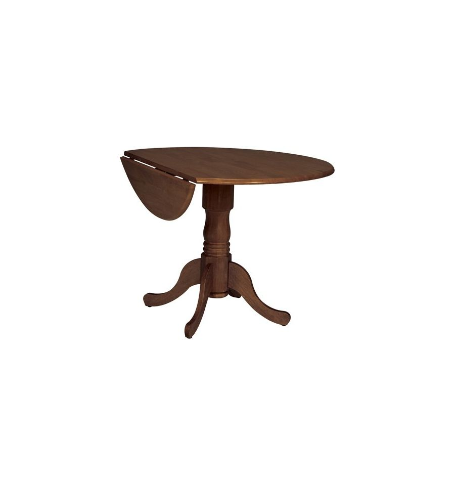 42 Inch Round Dropleaf Dining Tables Burr S Unfinished Furniture Bryan Tx