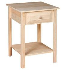 [20 Inch] White Horse Side Table