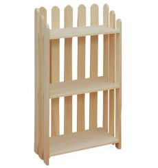 "[22 Inch] Picket Bookshelves 39""H"