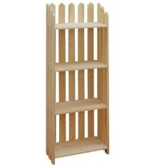 "[22 Inch] Picket Bookshelves 56""H"