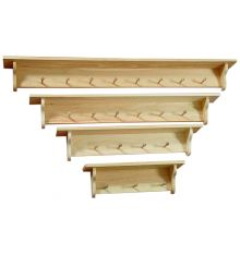 [24-60 Inch] Narrow Top Wall Shelves | Peg