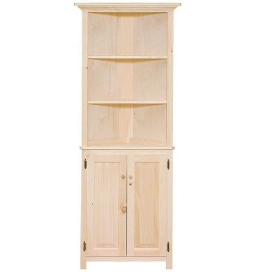 Perfect [26 Inch] Corner Hutch   Doors