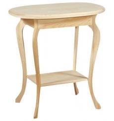 [26 Inch] Queen Anne Oval Table