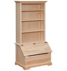 [35 Inch] Bookshelf - Slant Front Box Chest
